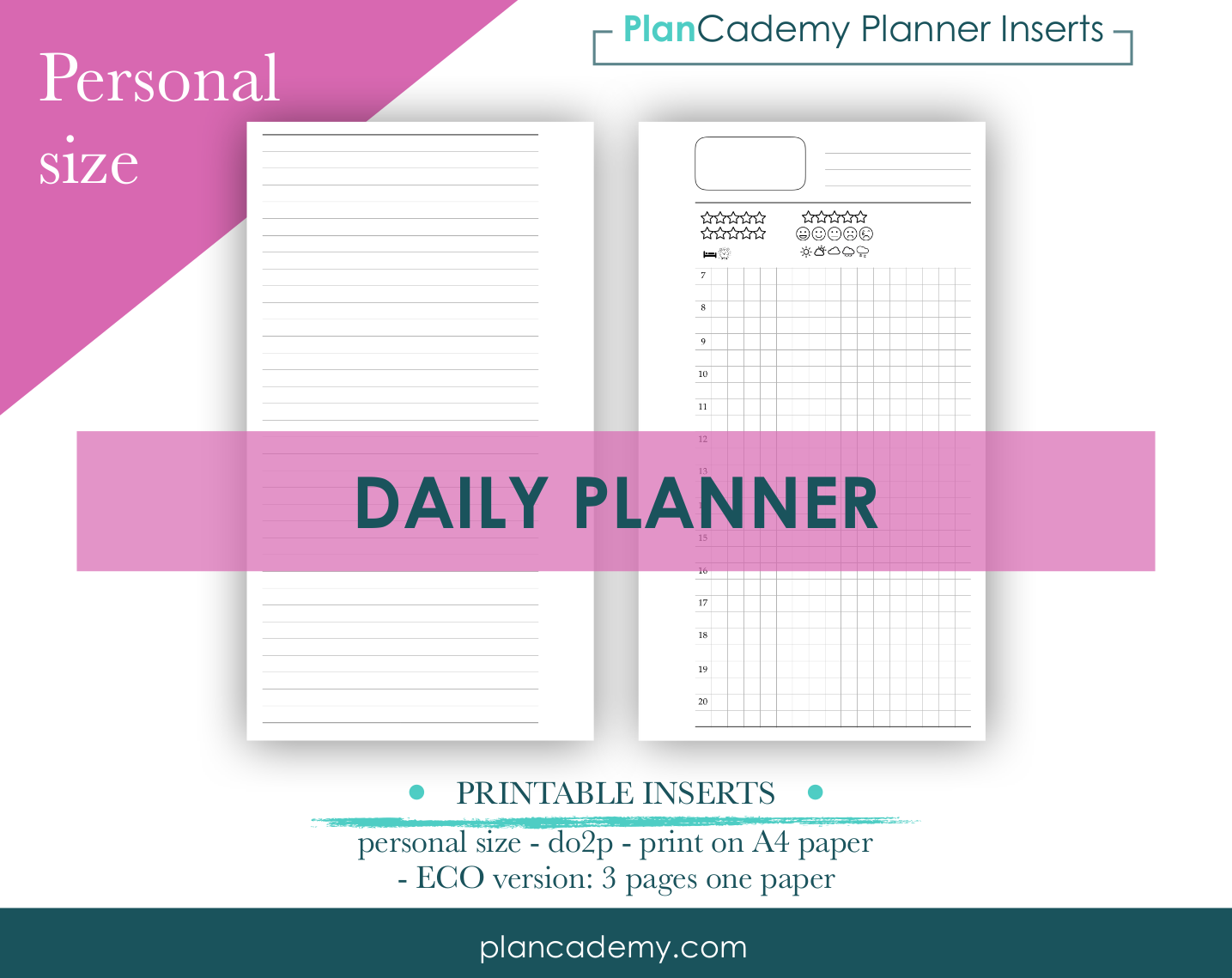 Daily planner - Personal size - do2p