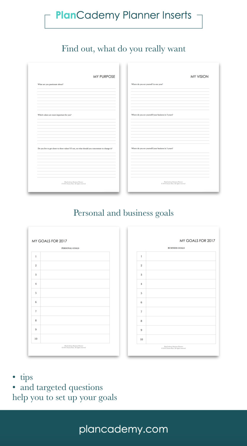 graphic regarding Discbound Planner Printables called 2017 Objective PLANNER printable Filofax include discbound A4, comprehensive sizing, A5, 50 percent measurement office environment planner PlanCademy