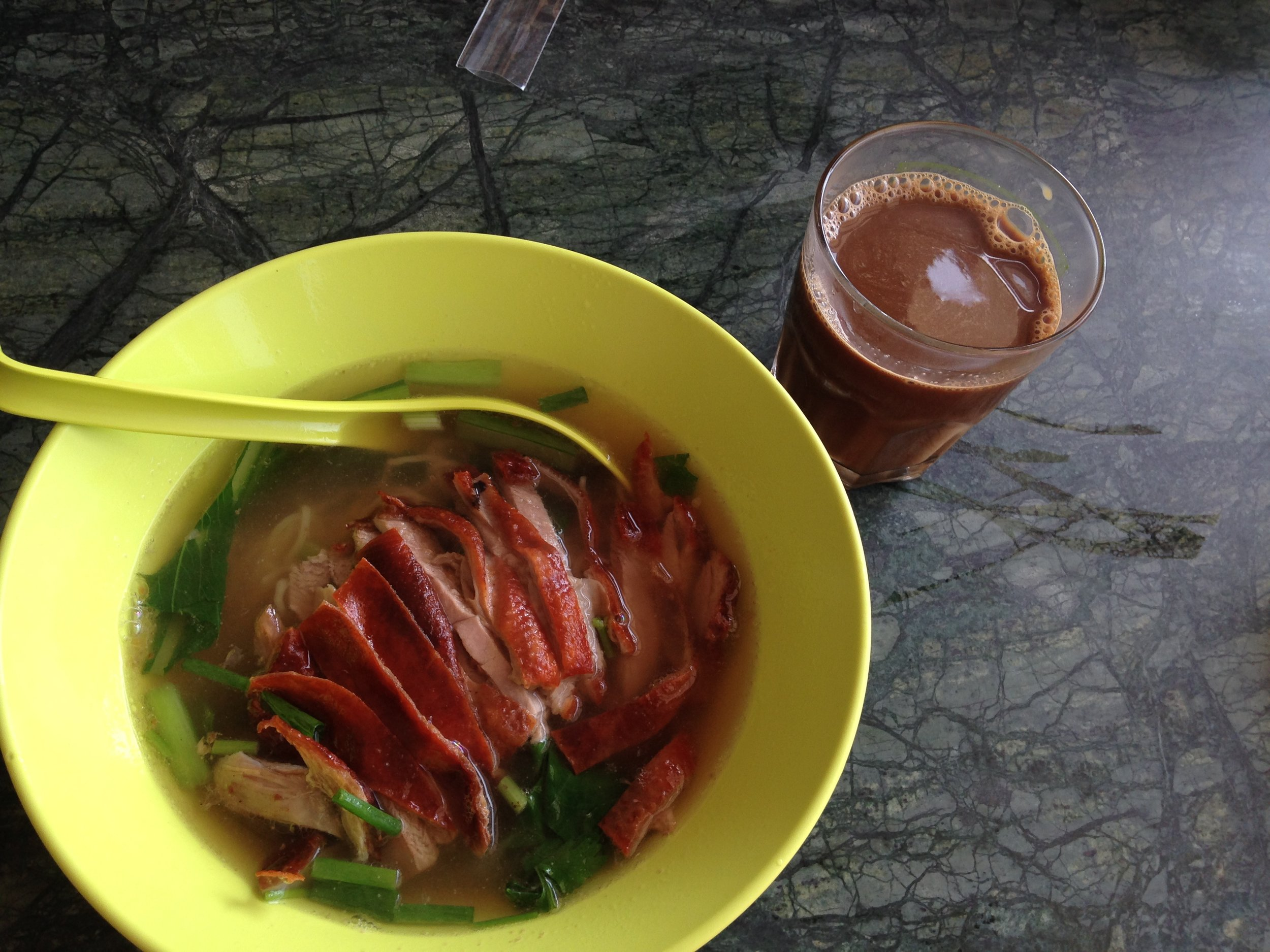 duck noodles for breakfast