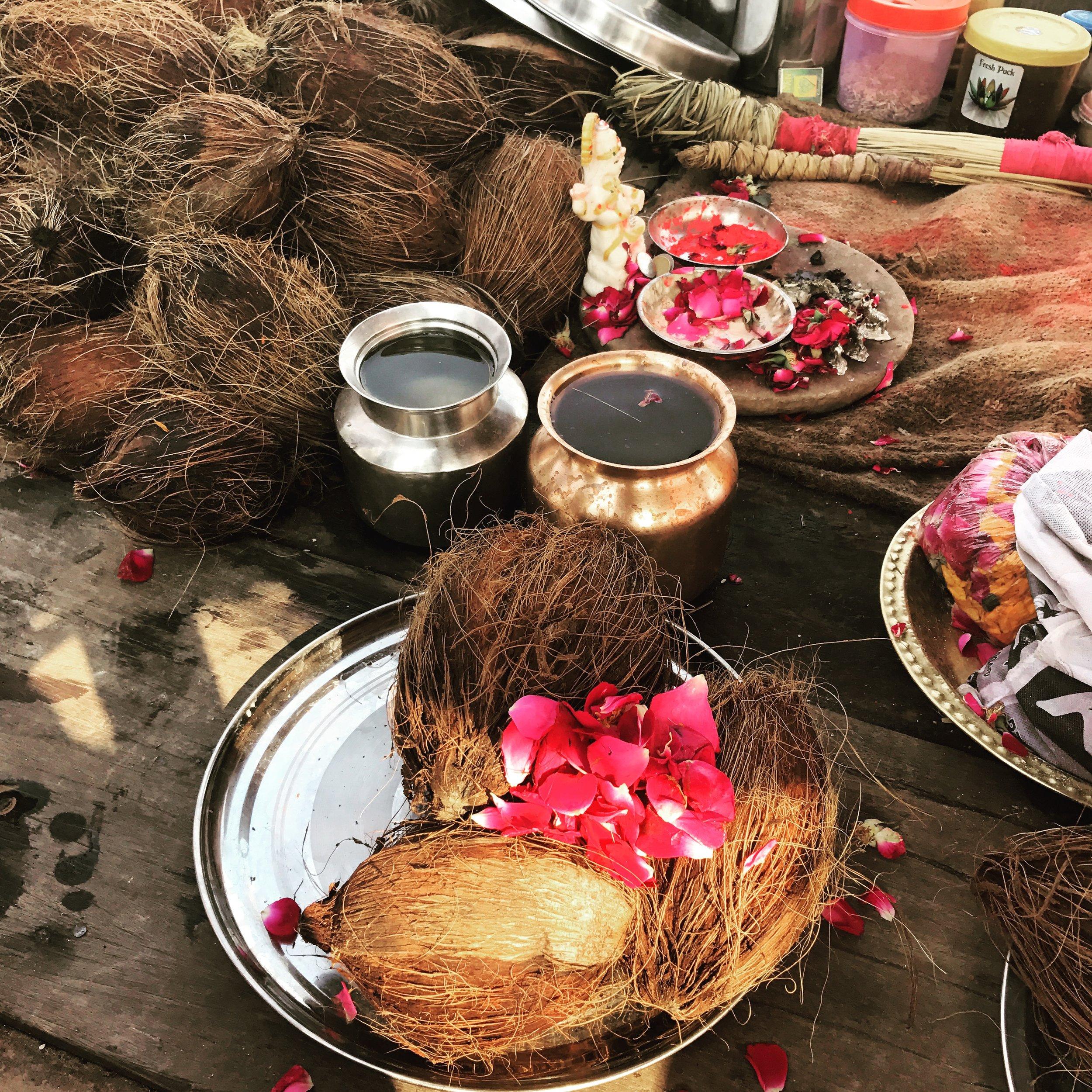 offerings in Allahbad