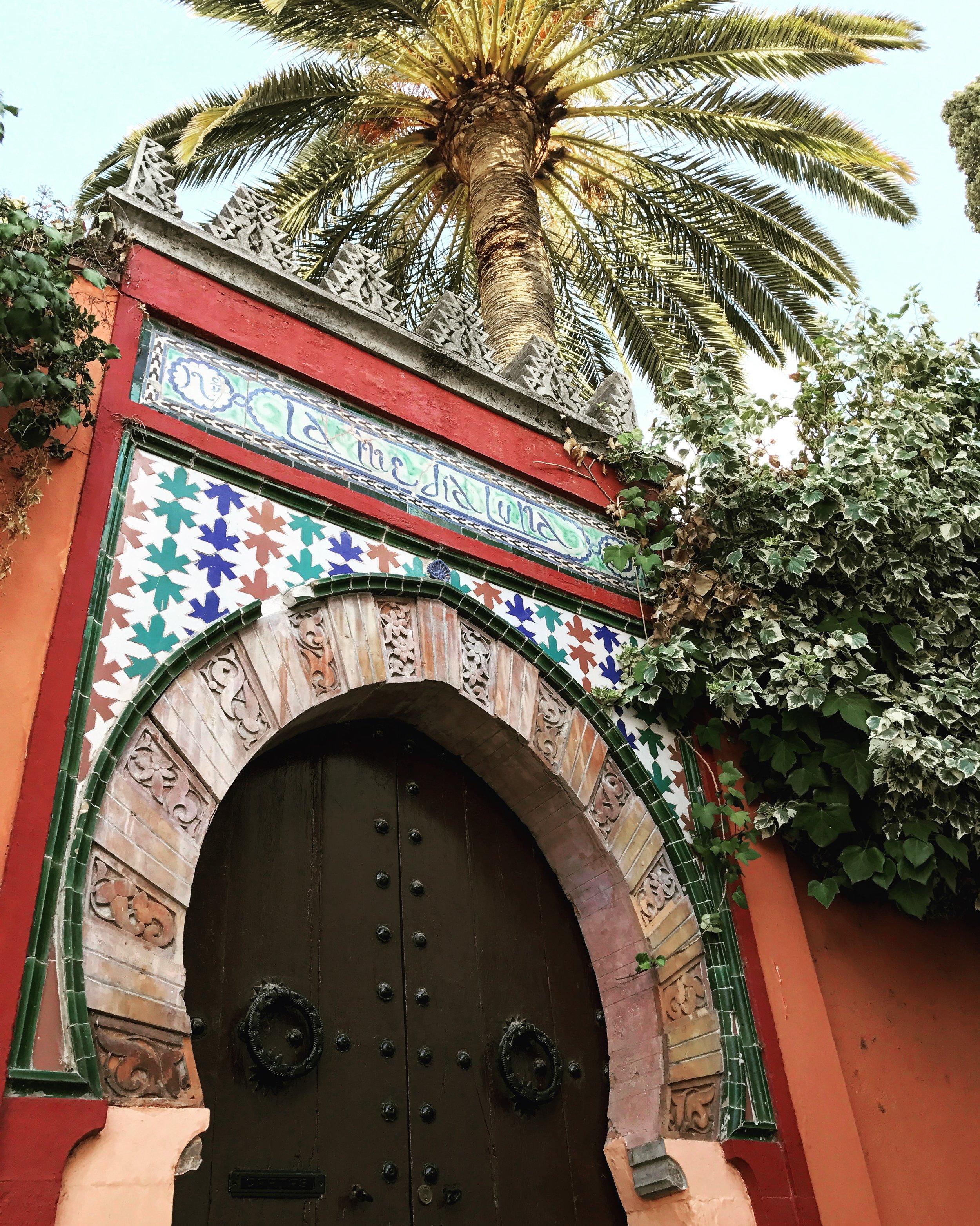 a doorway in the Albayzín neighborhood