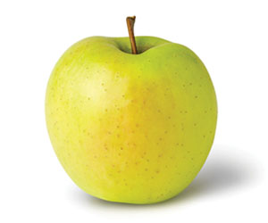 Golden Delicious    Mildly sweet, juicy, crisp, & light yellow flesh   Harvest: Early October