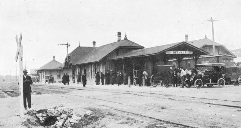 Beeville Railroad Depot from San Antonio & Aransas Pass Railroad.