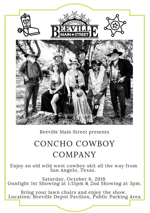Beeville Main Street Presents Concho Cowboy Co. October 6, 2018 2.PNG
