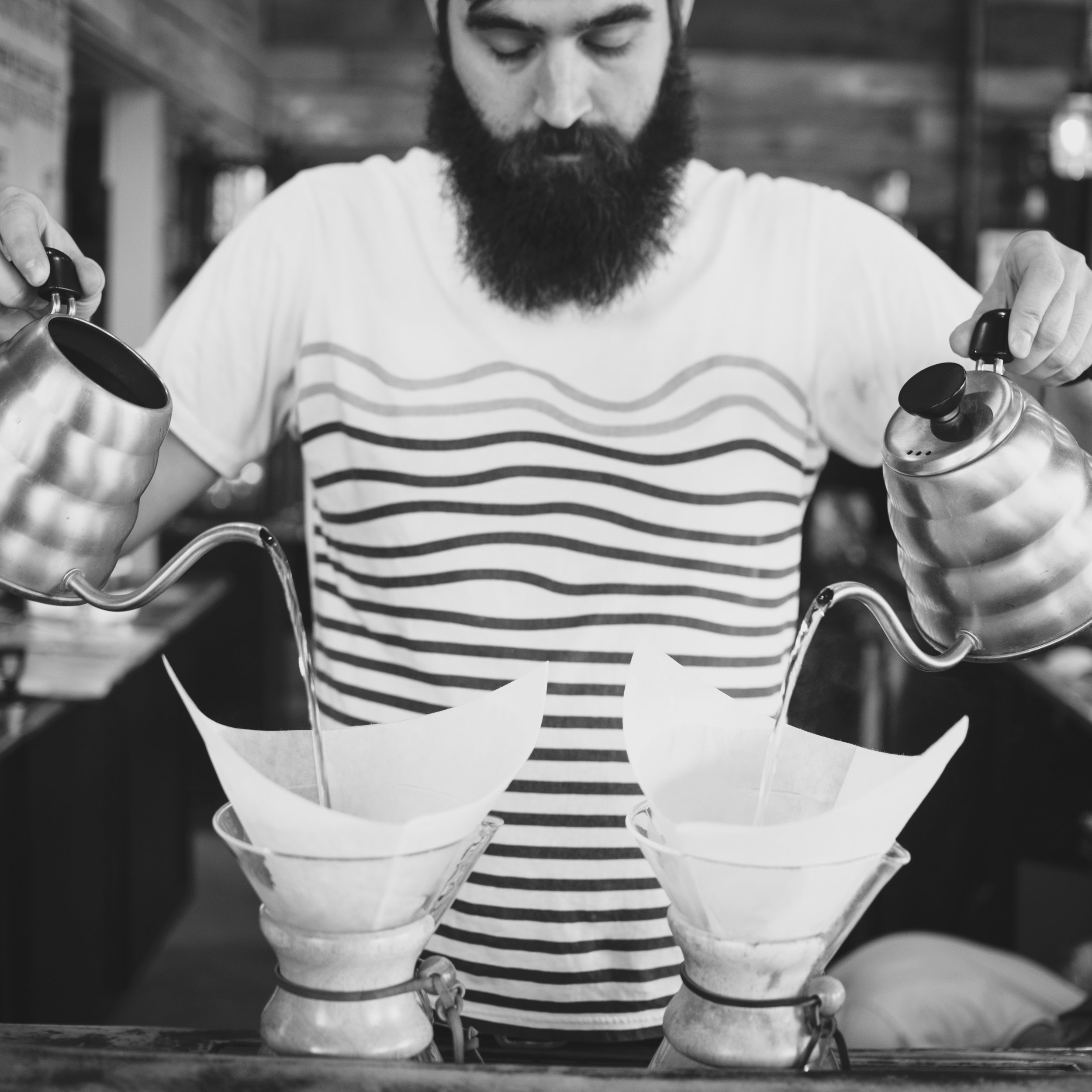 My favorite part of  volunteering is to  help new baristas see  the light and fall  deeply in love with  truly amazing coffee.