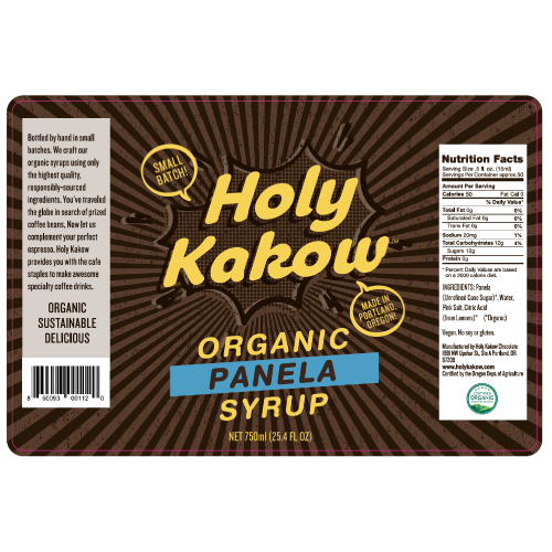 <b>Organic Panela Syrup</b><br>by Holy Kakow<br>Specialty Beverage Flavor Additive