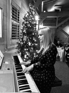 Performing at a Christmas party