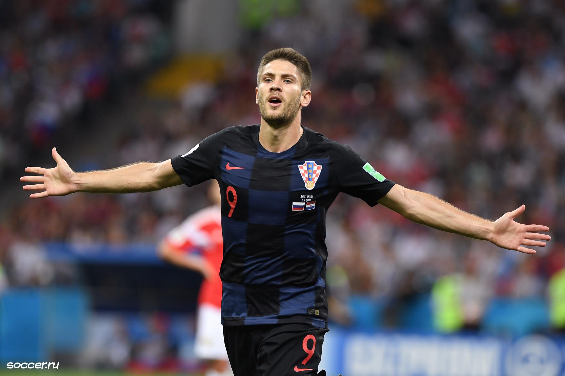 Hoffenheim striker Andrej Kramaric in action for his beloved Croatian international side.