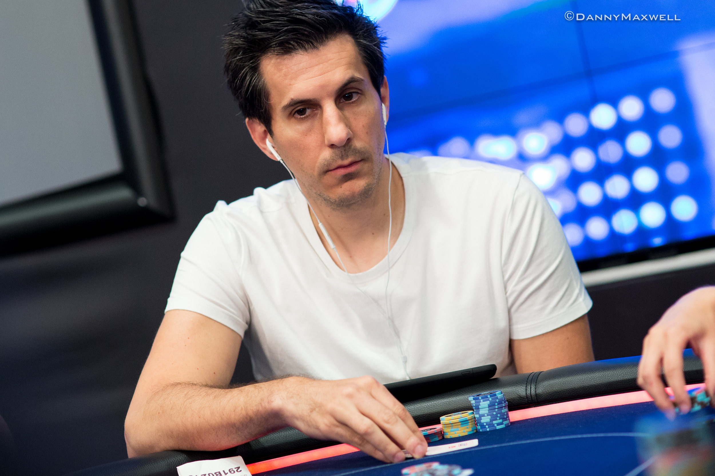 Voulgaris at another Poker event. Credit: Danny Maxwell