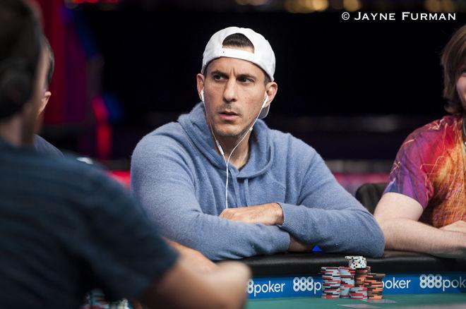 Bob playing at a Poker event. Credit Jayne Furman.