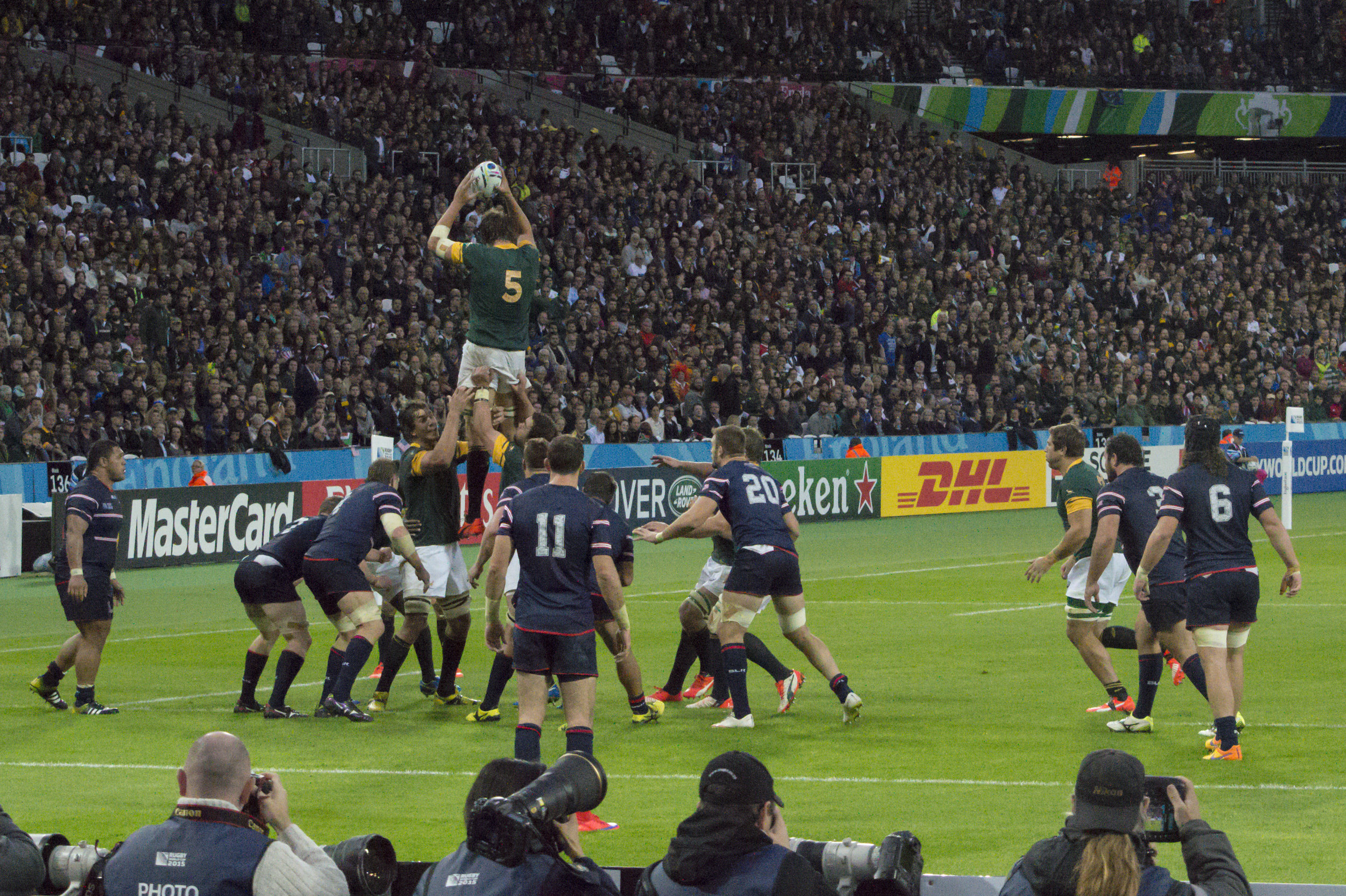 South Africa in action against USA.