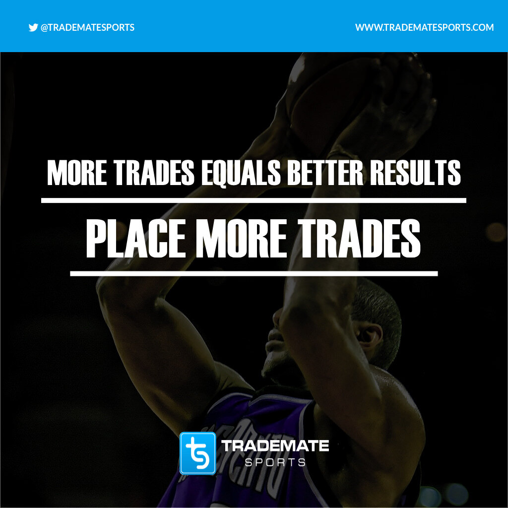 The Nr. 1 Key to Success with Trademate Sports is to place a large number of trades