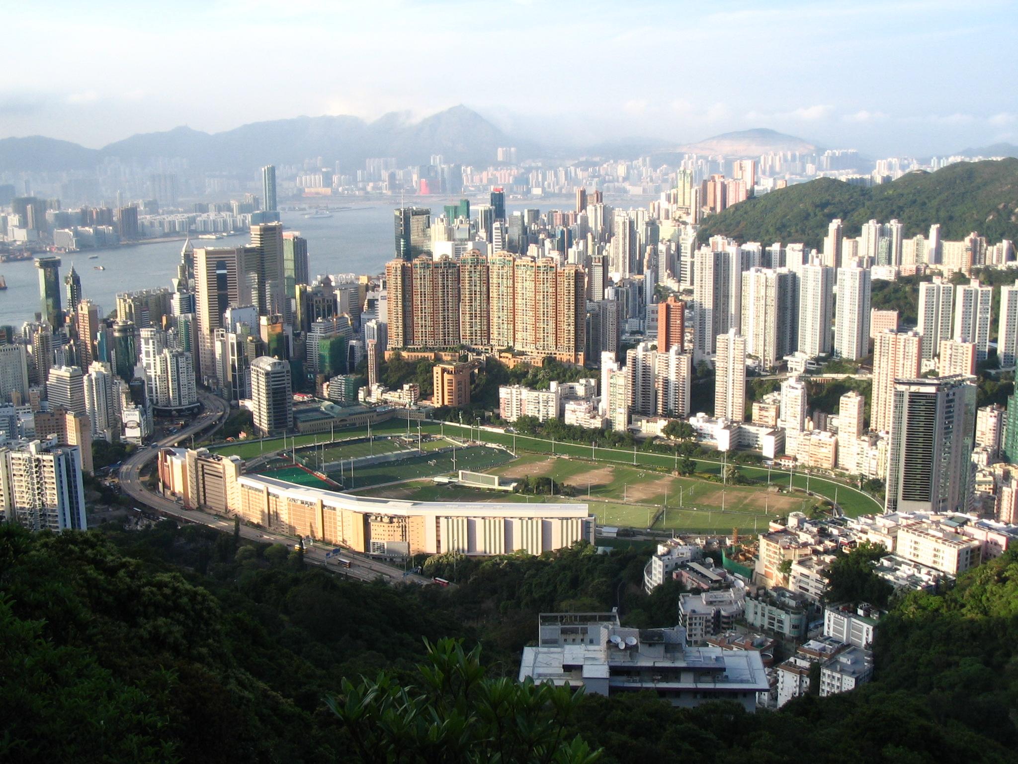Happy Valley Racecourse in Hong Kong.