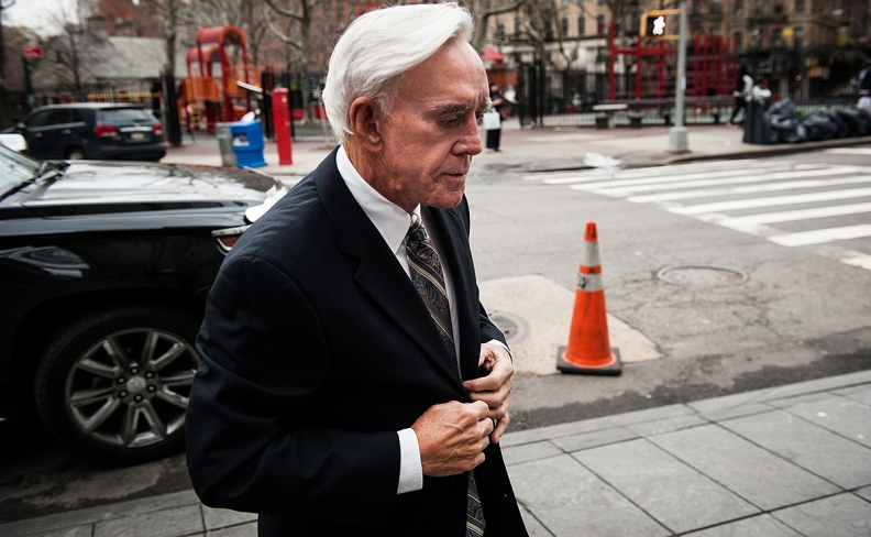 Walters heading to court. Source: Bloomberg.