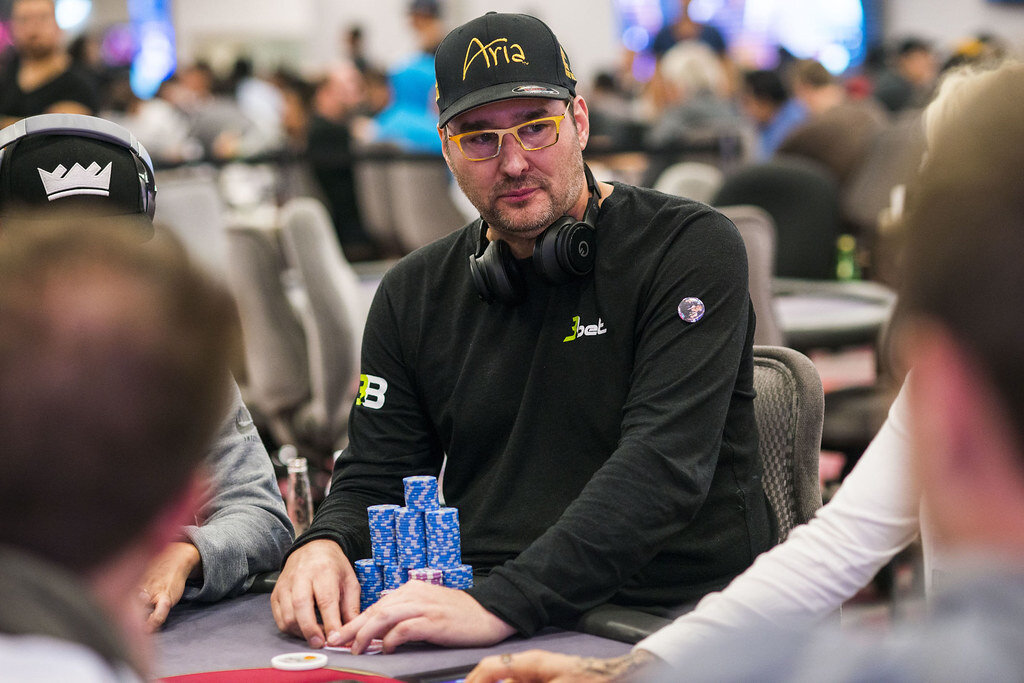 Pro Poker Player Phil Hellmuth in action.