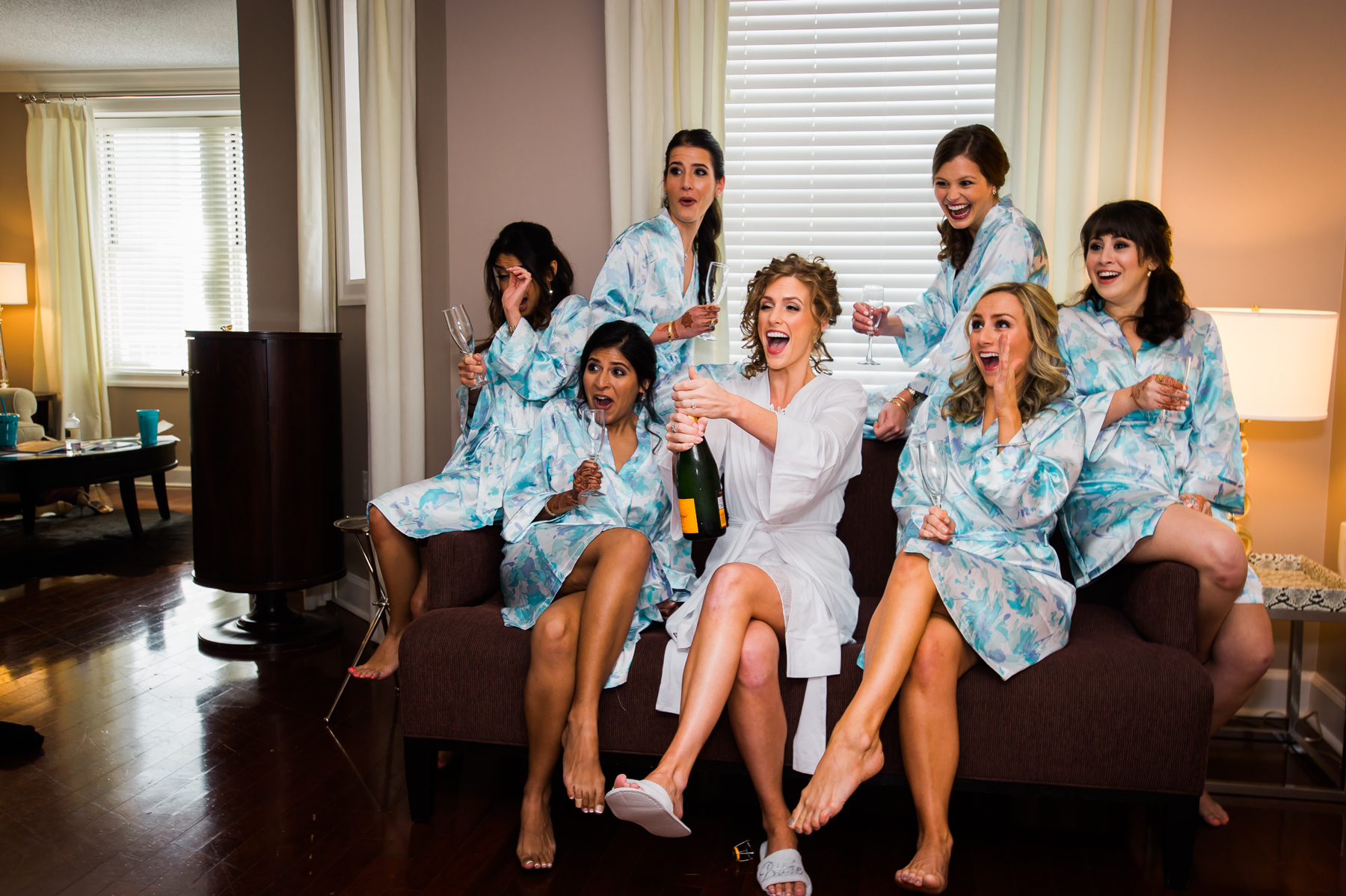 How sweet is this photo of the girls celebrating pre ceremony!