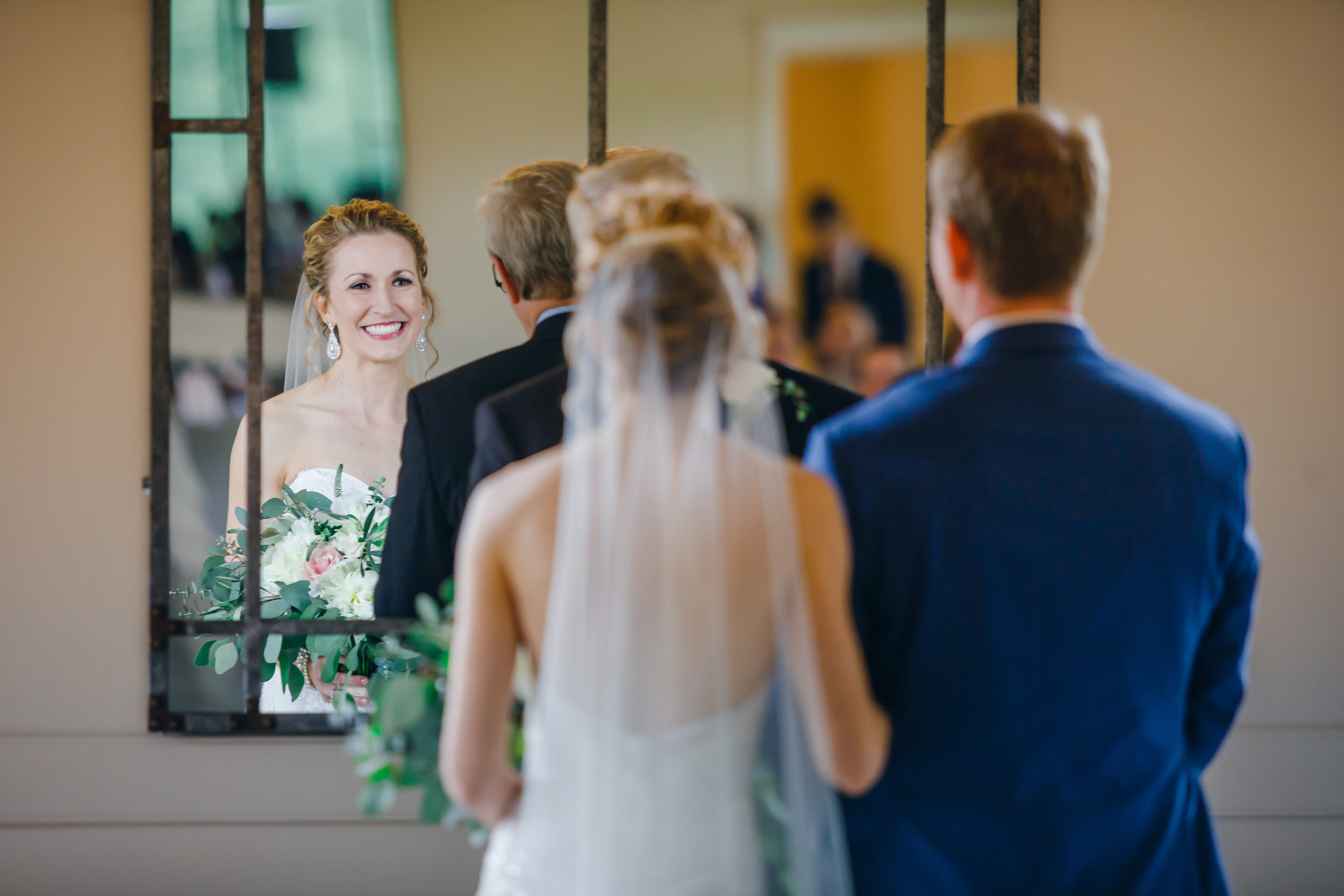 I had a guest tell me that they loved being able to see the bride and groom and their expressions throughout the ceremony in the mirrors and I just LOVED that!
