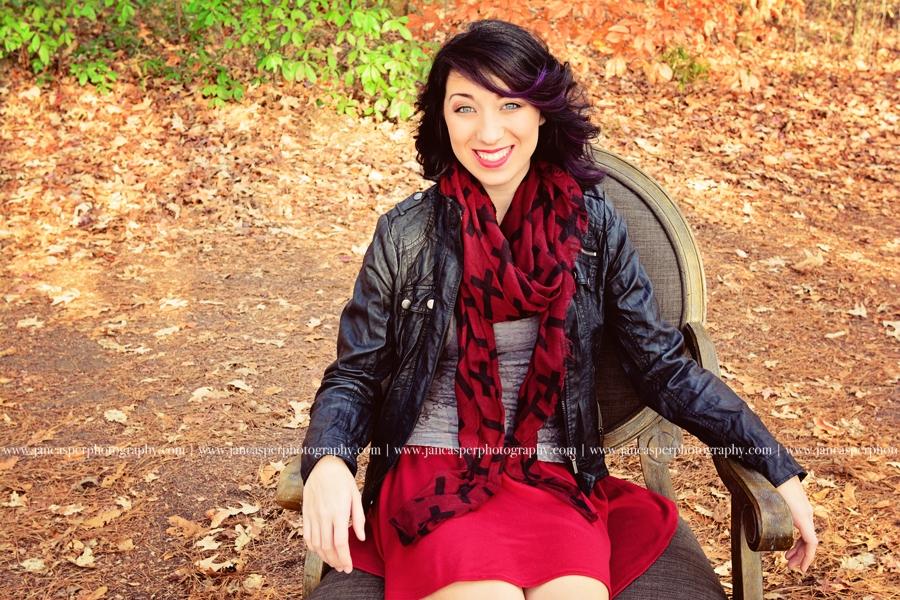 Oak Grove Lake Park Chesapeake Virginia fall senior portrait Jan Casper Photography