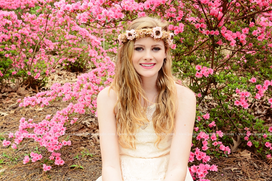 Norfolk Botanical Garden Virginia senior portrait Jan Casper Photography