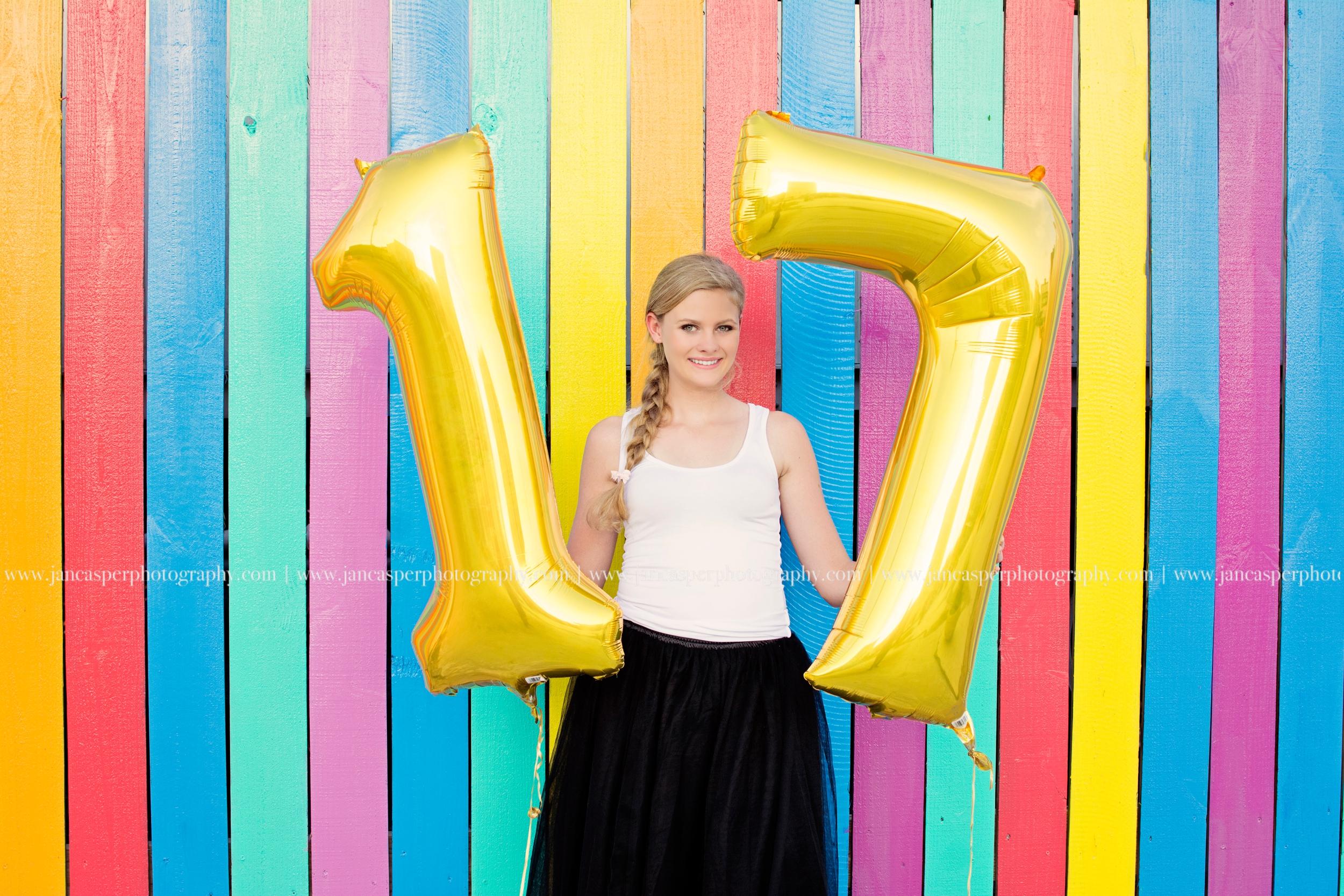 Norfolk Neon District senior portrait Jan Casper Photography