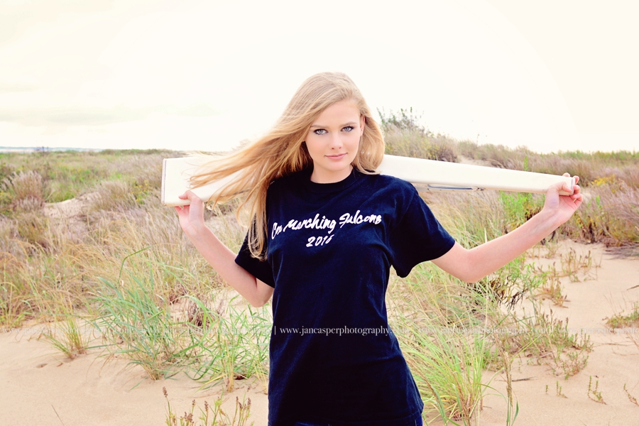 Fort Story senior portrait Virginia Beach Jan Casper Photography