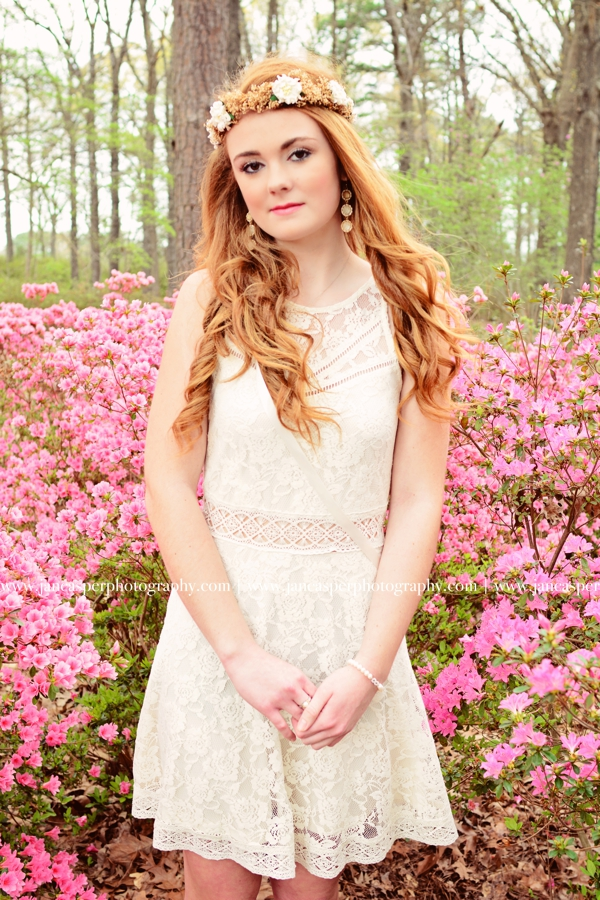 senior portrait Norfolk Botanical Garden Jan Casper Photography Virginia Beach