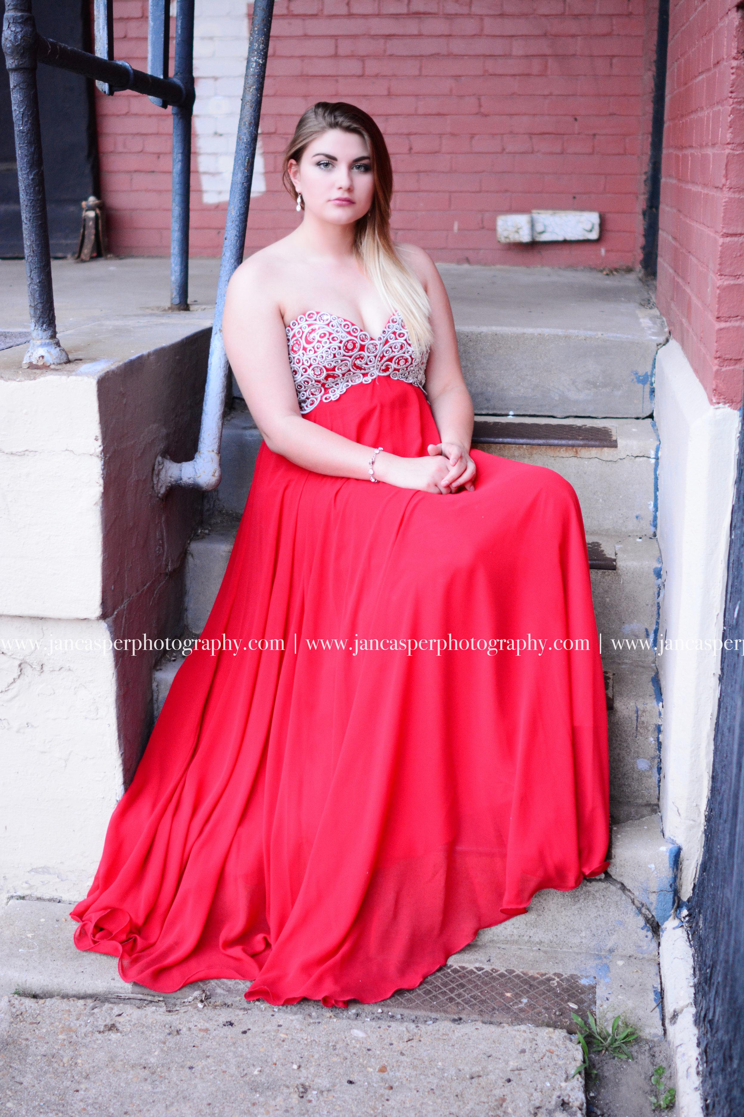 senior portrait prom dress Norfolk Jan Casper Photography