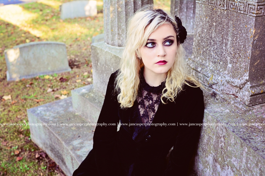 senior portrait Richmond Hollywood Cemetery Halloween Jan Casper Photography Virginia