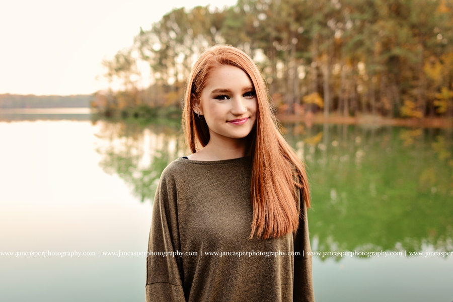 senior portrait Virginia Jan Casper Photography Oak Grove Lake Park Chesapeake Virginia