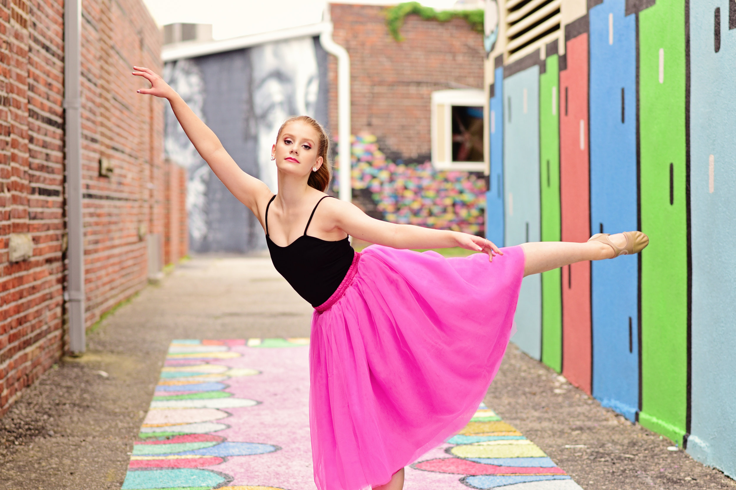 neon arts district Norfolk dance portrait Jan Casper Photography Virginia