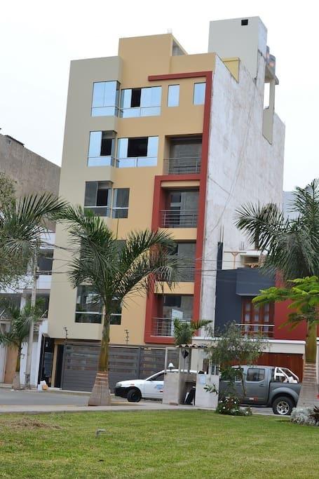 Trujillo, Peru apartment entryway