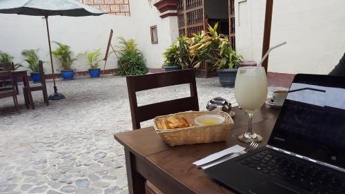 Working at Casona Deza Cafe