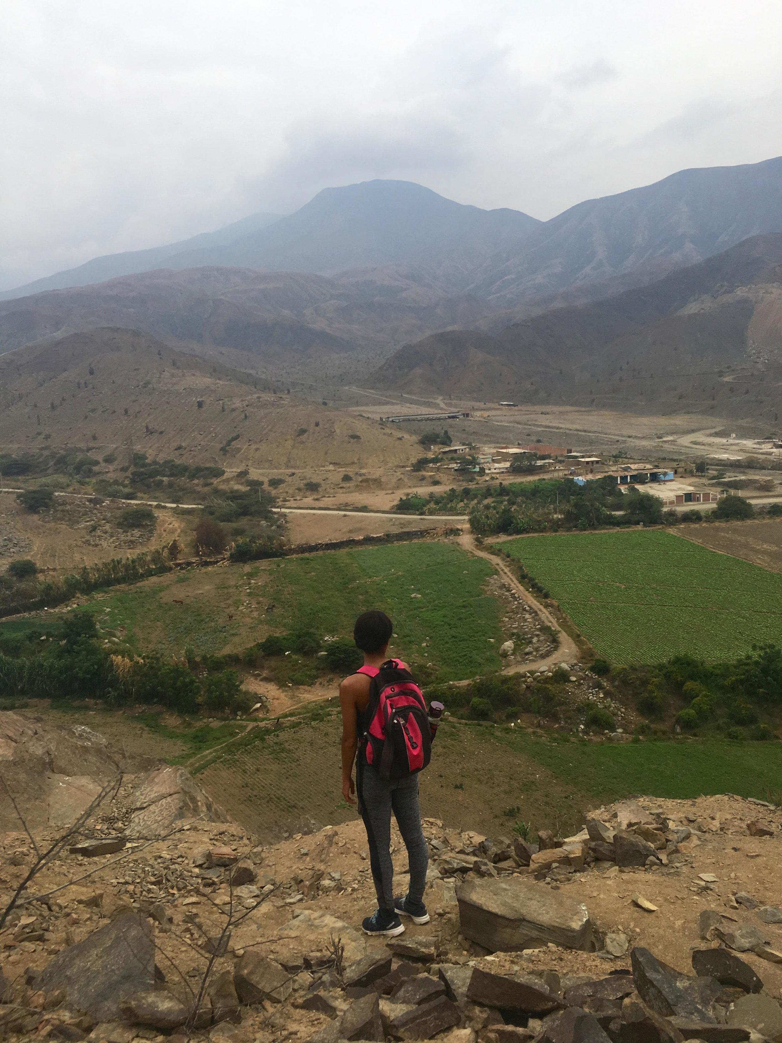 Hiking in Simbal, Peru