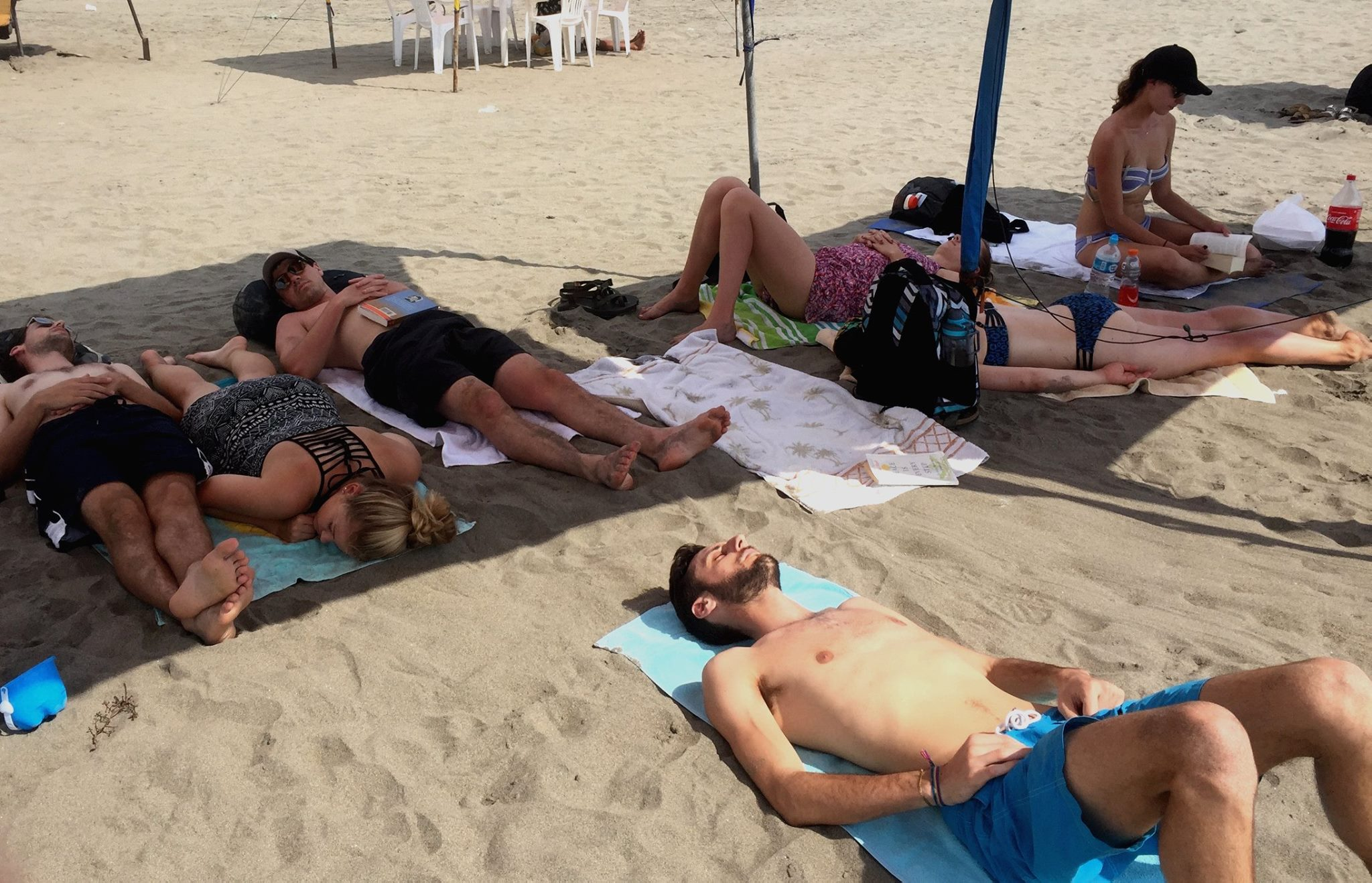 Relaxing on the beach in Peru