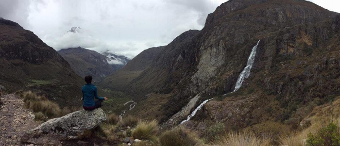 Yoga in the mountains in Peru