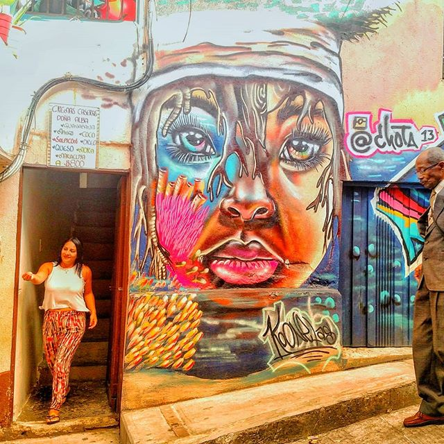 #streetartsaturday in #colombia, one of our choice locations for #socialimpact programs benefiting women in the communities we are privileged to work with.  We love hunting down and snapping street art in our spare time and Colombia as a whole has so much unique and diverse art.  Do you love taking street art and where are your favourite cities for finding them? #NYC gotta be the top of the list. 😄  #linkinbio  #travel  #venturewithimpact  #nomad #nomadlife #probonoconsulting #skillsconsulting  #digitalnomad #remoteworkers #remoteworkersunite  #remoteworkerslife #goabroad #socialimpact #travelwithpurpose  #travelandwork #workandtravel #responsibletravel #conscioustravel #medellin  #colombia #streetart #streetartsaturday  #weekender  #urbanart #streetartcolombia