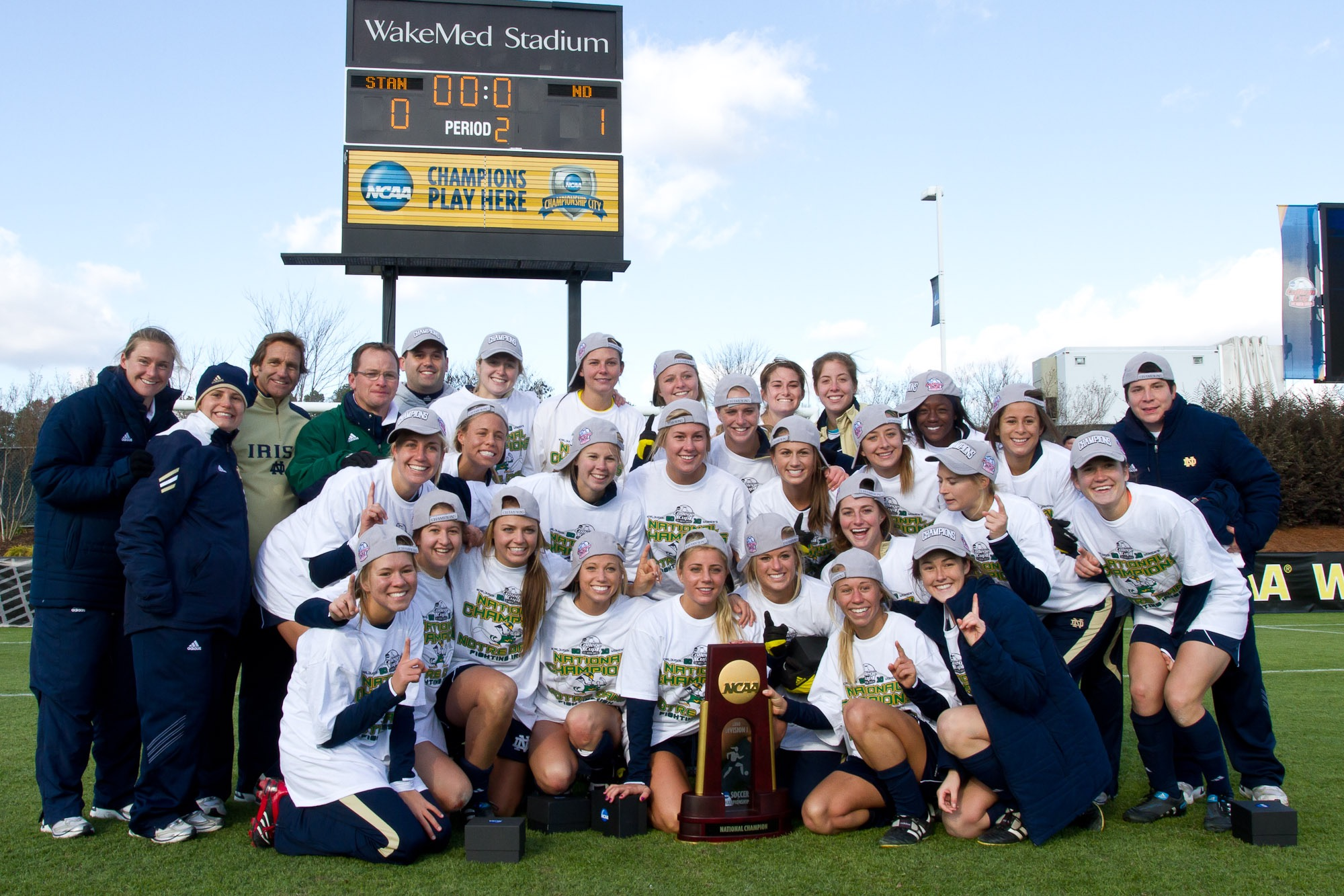 Soon after their bake sale, Lindsay's team won the NCAA trophy; so not only did they bake a change, they also became the best women's collegiate soccer team in the U.S.!