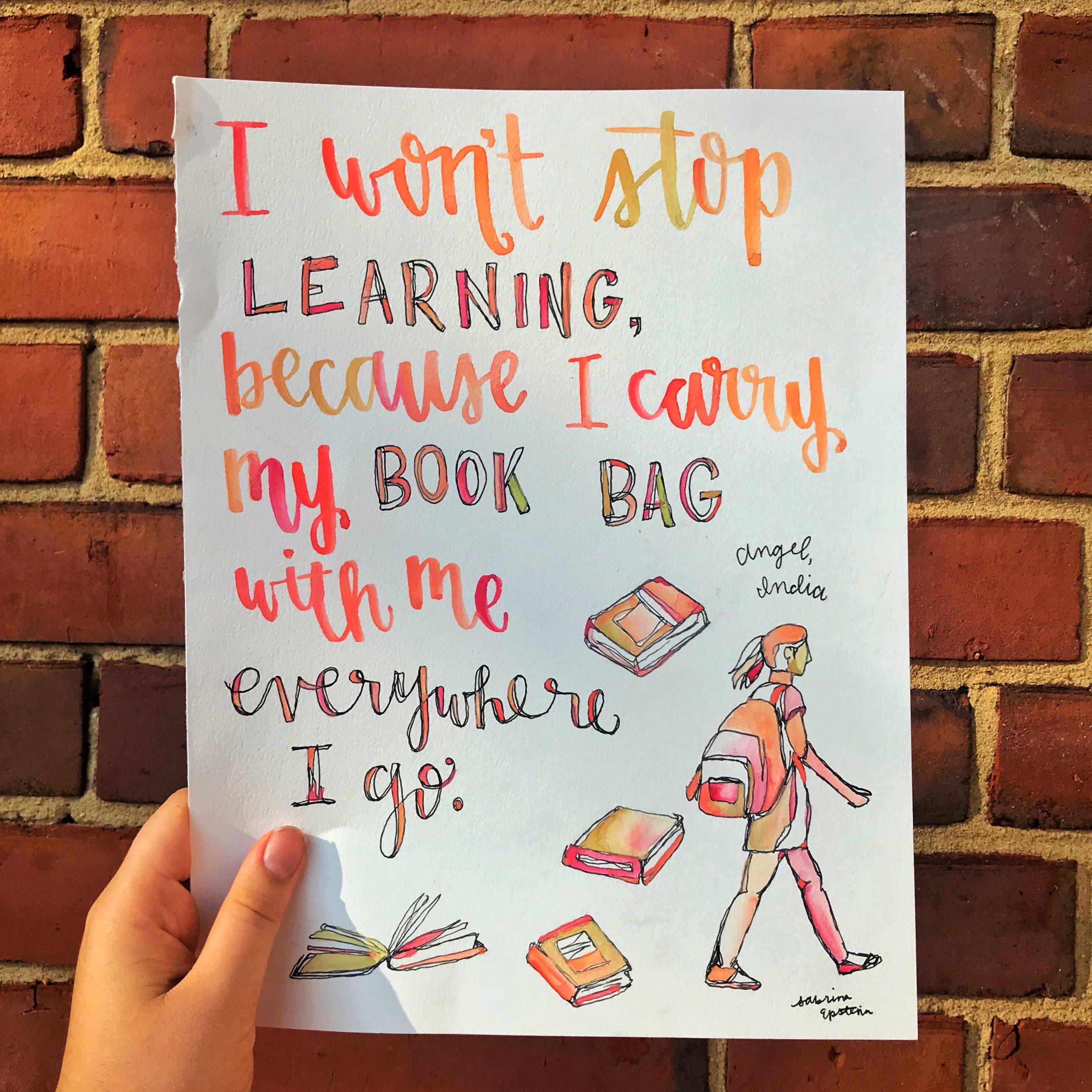 Illustrated by @Sabrina.Epstein, words by @AmandaSCGorman