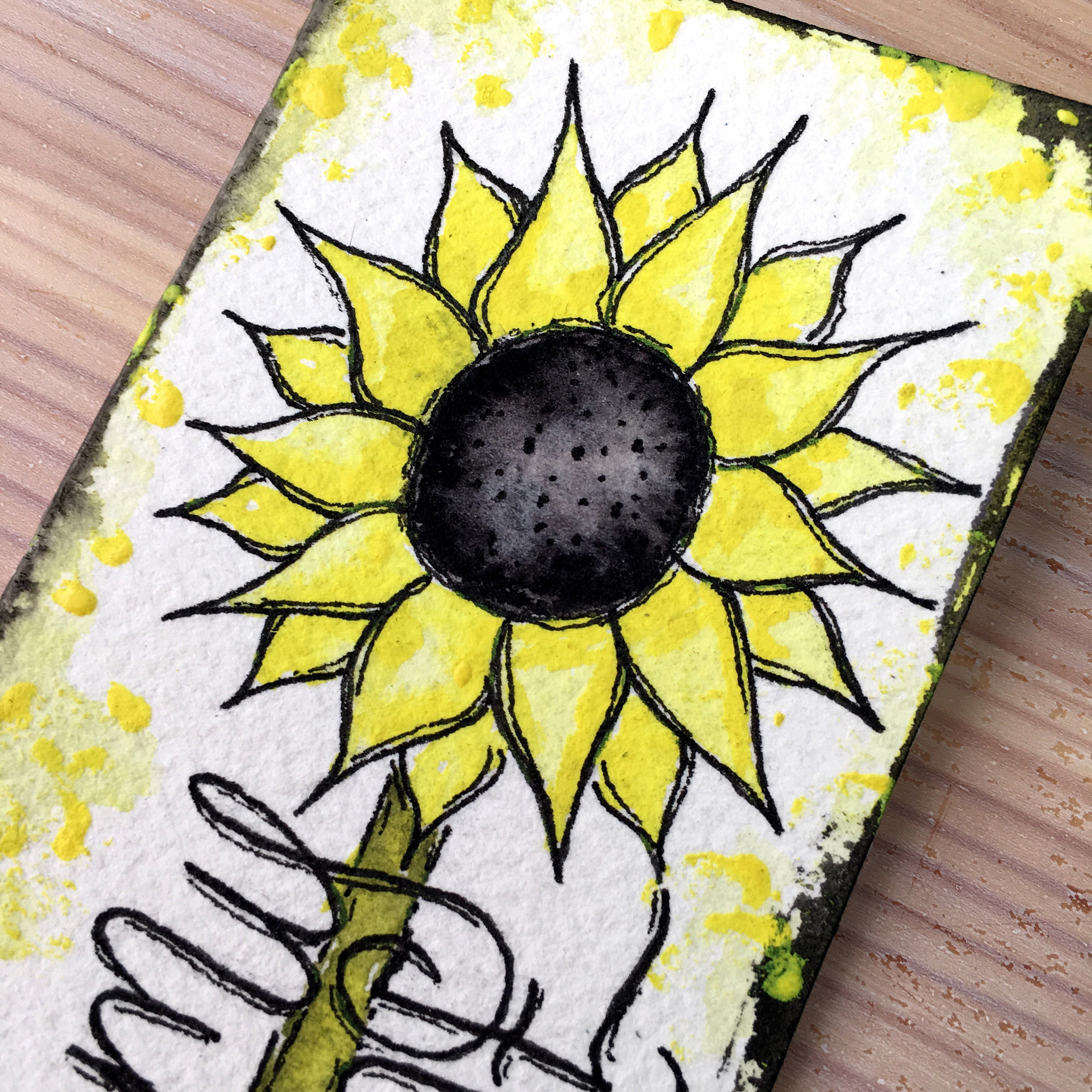 Dani Claire. Mother Daughter Art Challenge. Same Art Supplies, Two Results. Watercolor Art. Watercolor Artist. artsnackschallenge. Art Snacks. Hand Letter Artist. Handlettering. Sunflower art. You Are My Sunshine.