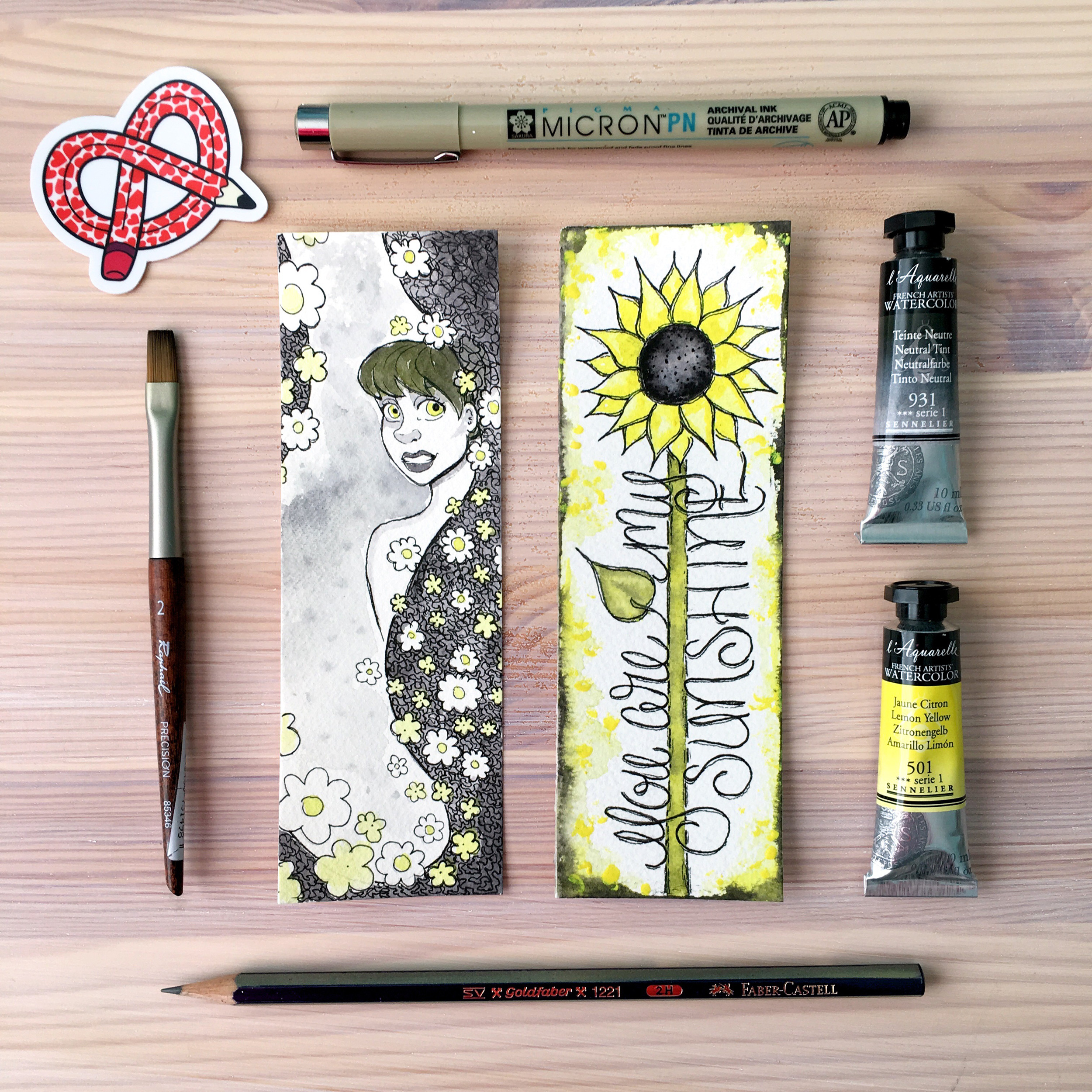 Dani Claire. Mother Daughter Art Challenge. Same Art Supplies, Two Results. Watercolor Art. Watercolor Artists. art Snacks Challenge. Art Snacks. Hand Letter Artist. Handlettering. Sunflower art. Girlie Art. You Are My Sunshine.