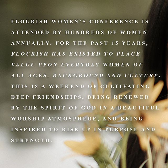 """We're less than 2 weeks away from our annual conference! We're so excited for our favorite time of the year!  Tickets can be purchased from the link in our bio or you can text """"FLOURISH19"""" to 797979"""