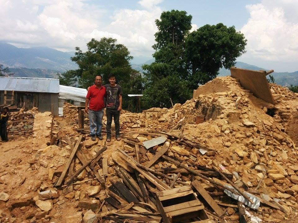 Dhading district, Helaas is hier na de aardbeving geen huis bespaart gebleven