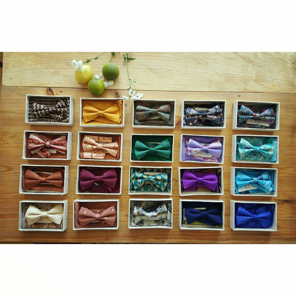 Vlinderdassen gemaakt door de dames van Hatti Hatti