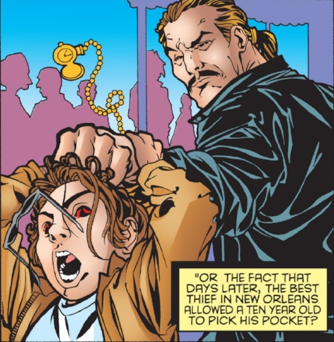 Gambit attempting to pickpocket Jean-Luc LeBeau ( Gambit Vol.3 #1 )