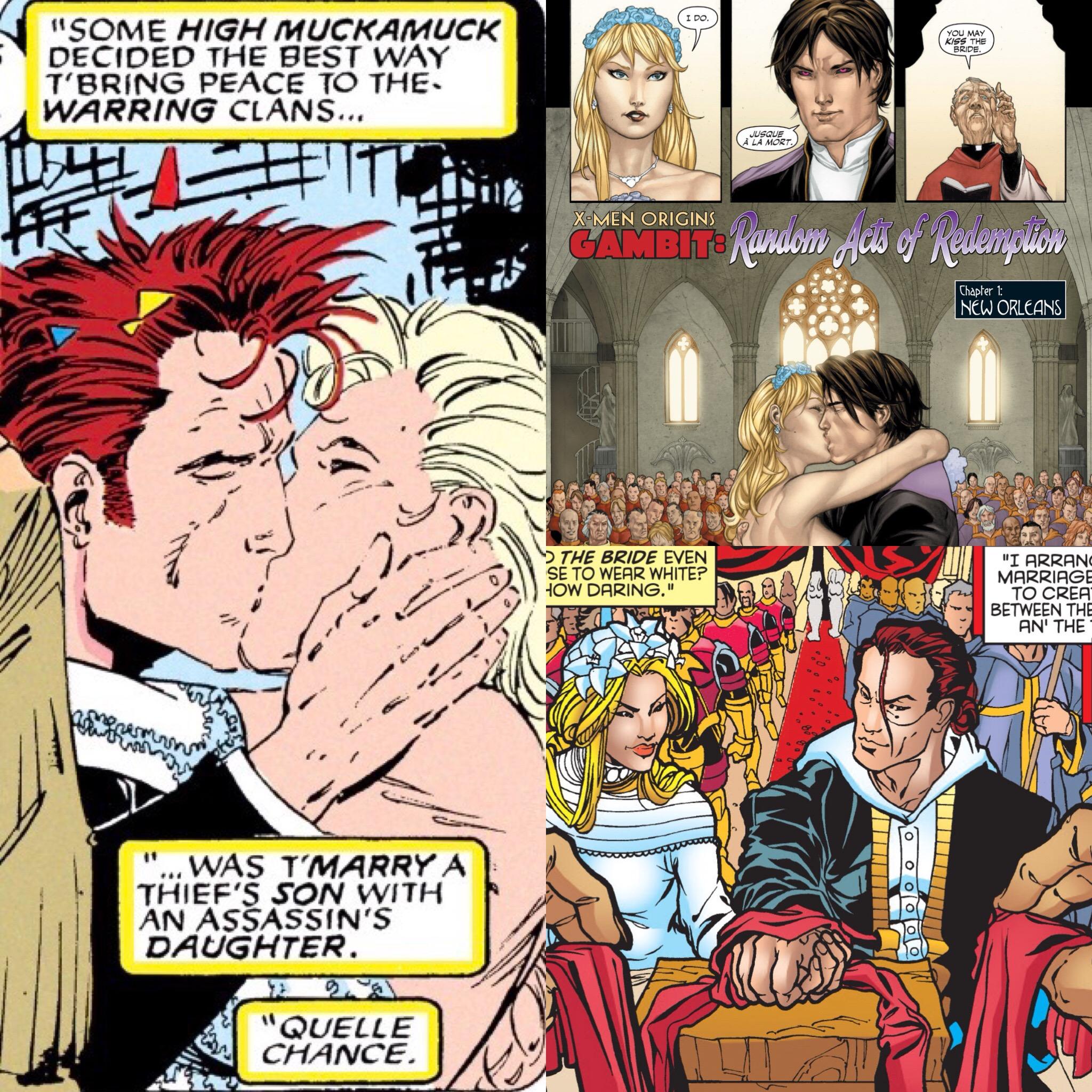Remy Marries Bella Donna Boudreaux ( X-men #8 ;  X-Men Origins: Gambit ;  Gambit Vol.3 #1 )