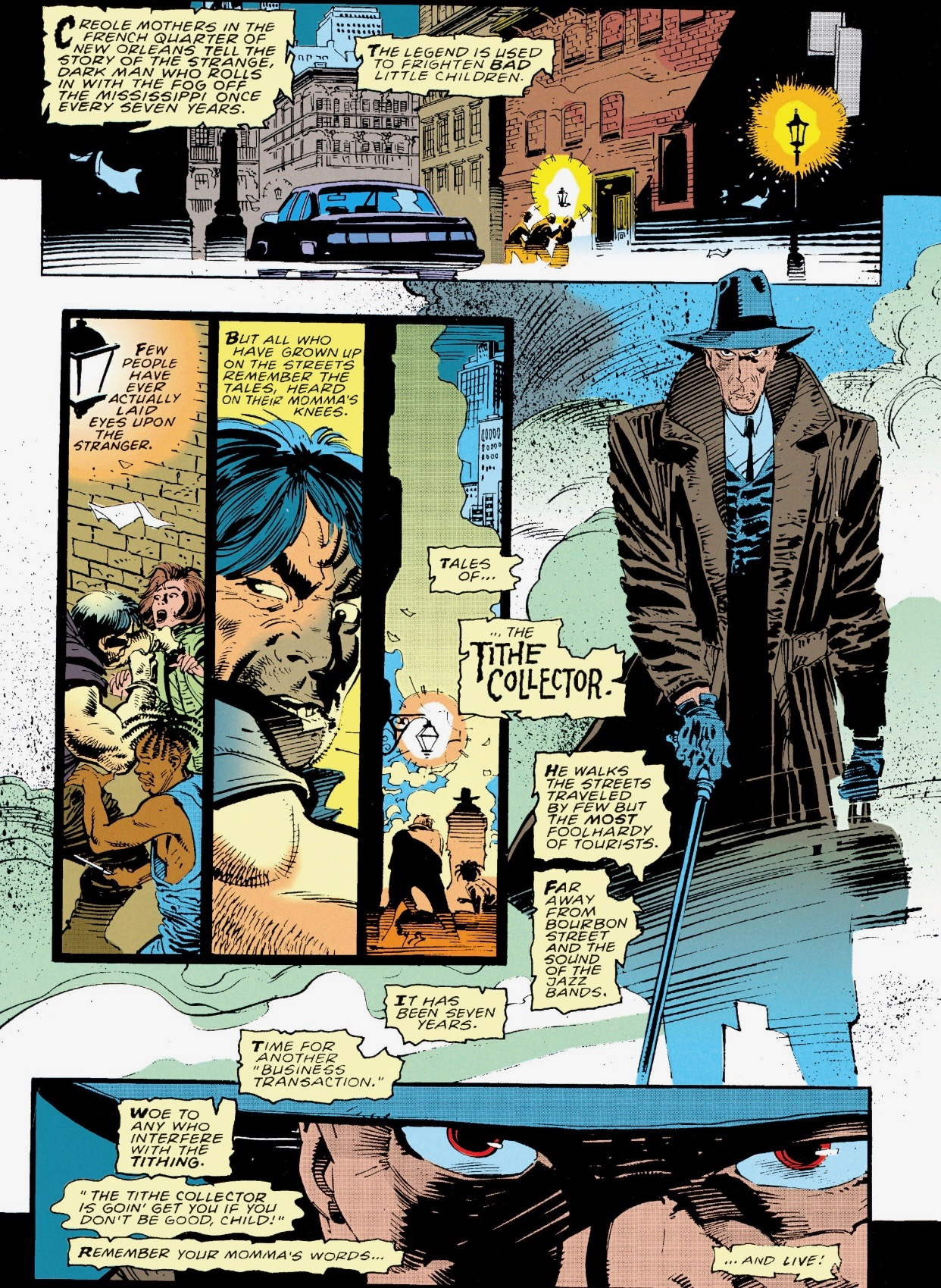 The Tithe Collectors first appearance ( Gambit Vol.1 #1 )