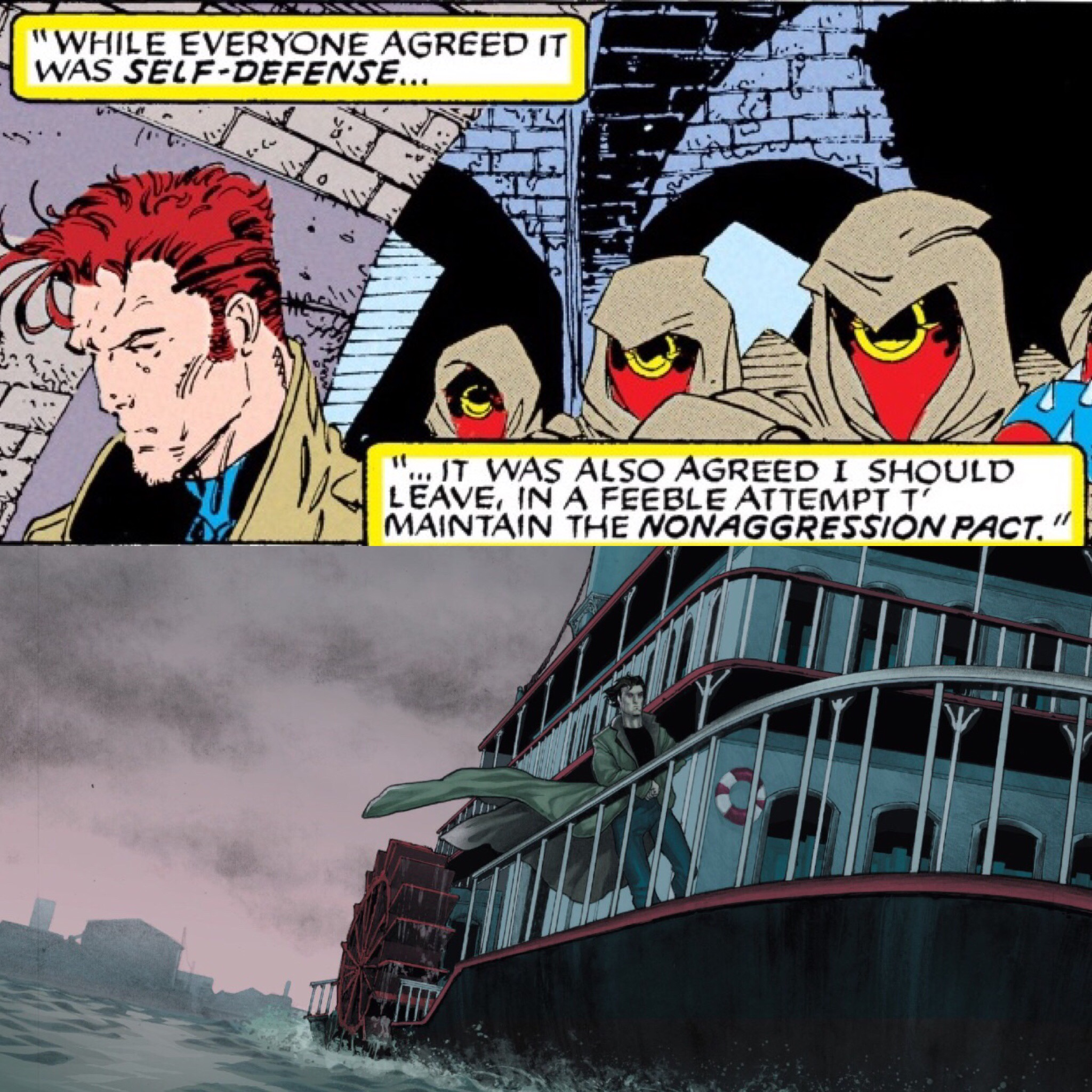Remy is Exiled from New Orleans  X-Men #8 ;  X-Men Origins: Gambit ).