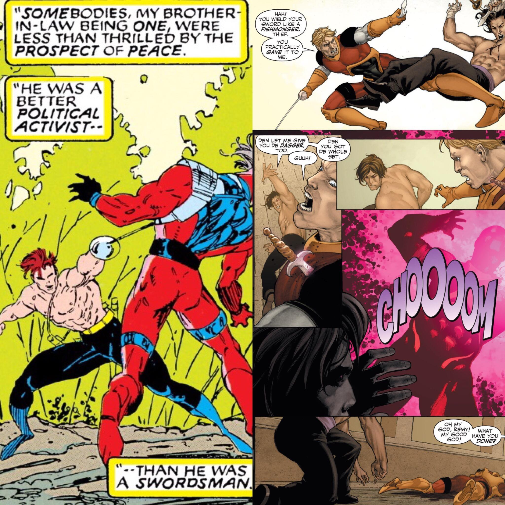 Gambit defeats Julian Boudreaux in a duel ( X-Men #8 ;  X-Men Origins: Gambit ).