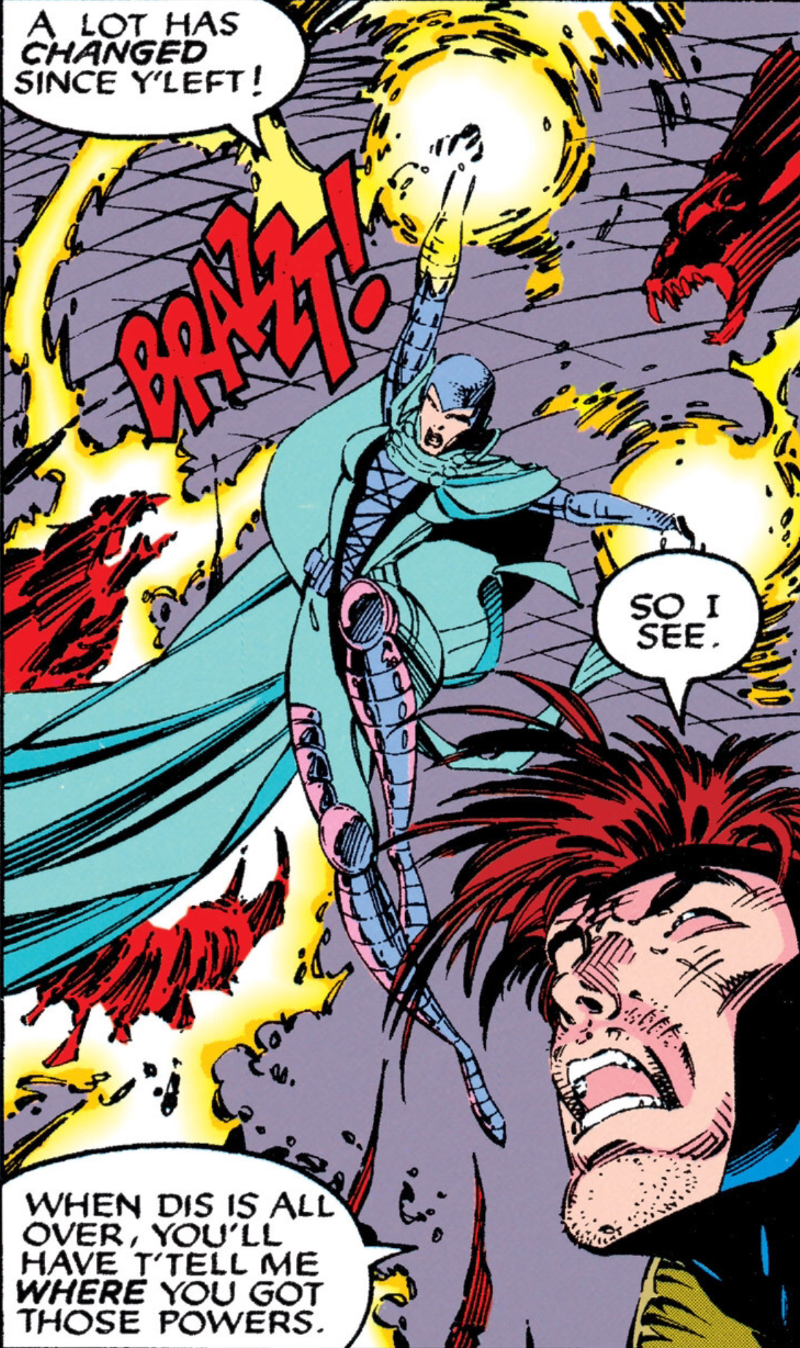Note: Bella Donna Boudreaux is not a mutant. She gained her powers from Candra ( X-Men #9 ).