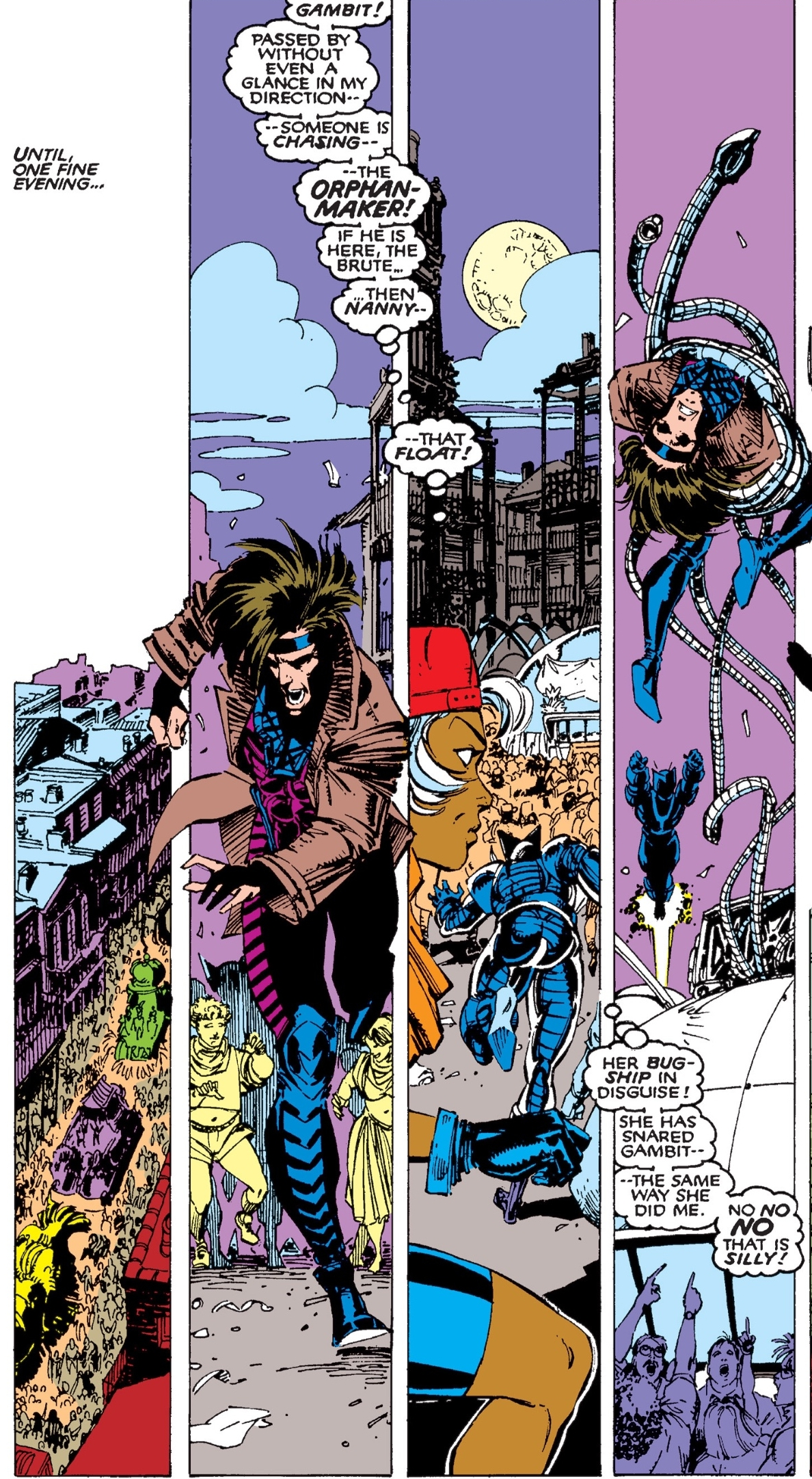 Gambit on Canal Street in New Orleans during Mardi Gras ( Uncanny X-Men #267 ).